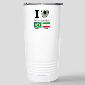 BRAZIL-IRAN Stainless Steel Travel Mug