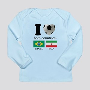 BRAZIL-IRAN Long Sleeve Infant T-Shirt