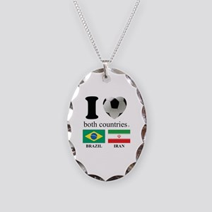 BRAZIL-IRAN Necklace Oval Charm