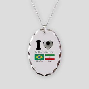BRAZIL-IRAN Necklace Oval Charm