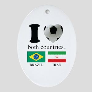 BRAZIL-IRAN Ornament (Oval)