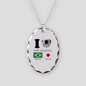 BRAZIL-JAPAN Necklace Oval Charm