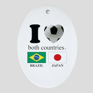 BRAZIL-JAPAN Ornament (Oval)