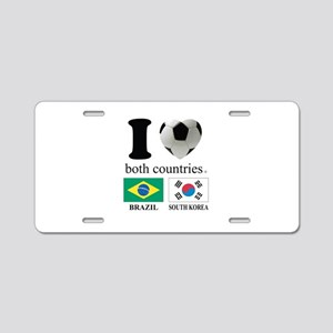 BRAZIL-SOUTH KOREA Aluminum License Plate