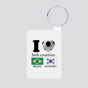 BRAZIL-SOUTH KOREA Aluminum Photo Keychain