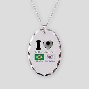 BRAZIL-SOUTH KOREA Necklace Oval Charm