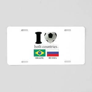 BRAZIL-RUSSIA Aluminum License Plate