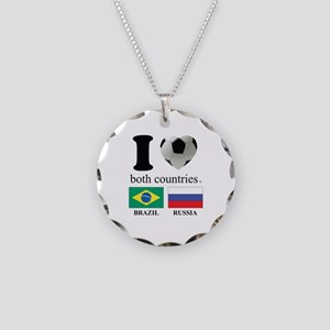 BRAZIL-RUSSIA Necklace Circle Charm