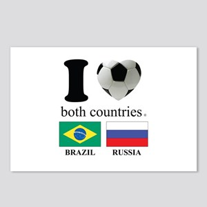 BRAZIL-RUSSIA Postcards (Package of 8)