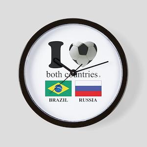 BRAZIL-RUSSIA Wall Clock