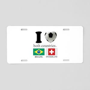 BRAZIL-SWITZERLAND Aluminum License Plate