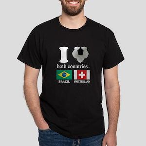 BRAZIL-SWITZERLAND Dark T-Shirt