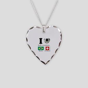 BRAZIL-SWITZERLAND Necklace Heart Charm