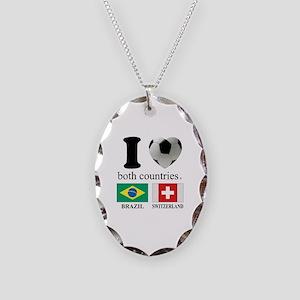 BRAZIL-SWITZERLAND Necklace Oval Charm
