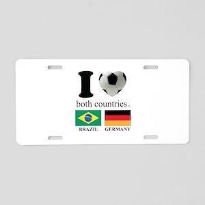 BRAZIL-GERMANY Aluminum License Plate