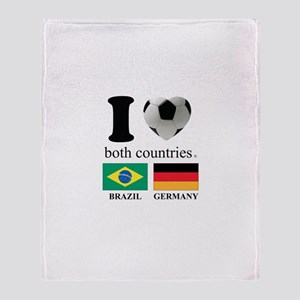 BRAZIL-GERMANY Throw Blanket
