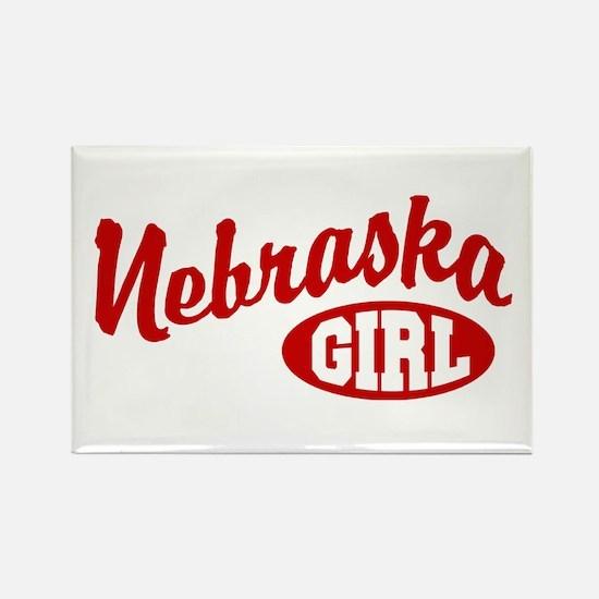 Nebraska Girl Rectangle Magnet