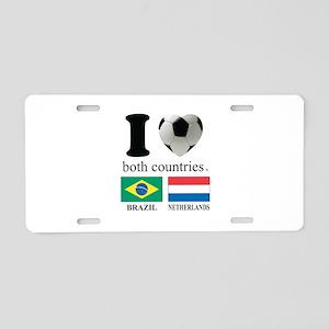 BRAZIL-NETHERLANDS Aluminum License Plate