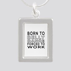 Born To Belly Dance Silver Portrait Necklace