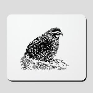 Bobwhite Quail (line art) Mousepad