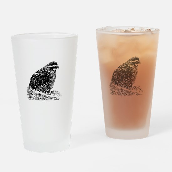 Bobwhite Quail (line art) Drinking Glass