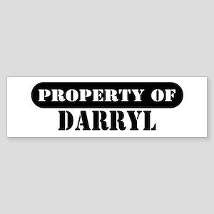 Property of Darryl Bumper Sticker