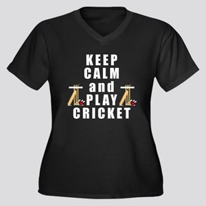Keep Calm and Play Cricket Plus Size T-Shirt