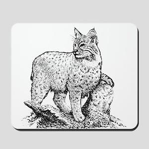 Bobcat (line art) Mousepad