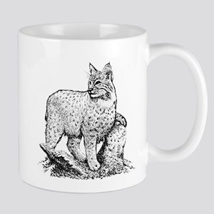 Bobcat (line art) Mugs