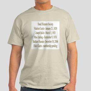 Dead Dictators Society Ash Grey T-Shirt