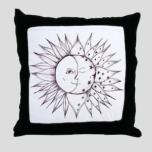 sunmoon Throw Pillow