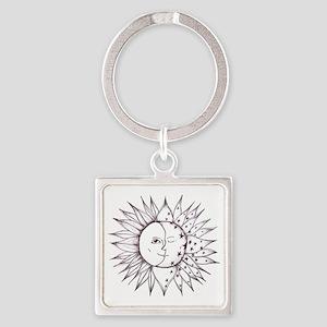 sunmoon Square Keychain