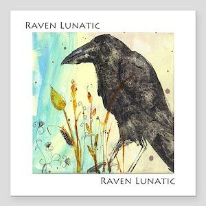"Raven Lunatic Square Car Magnet 3"" x 3"""