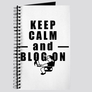 Keep Calm and Blog On Journal