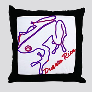 El Coqui Throw Pillow