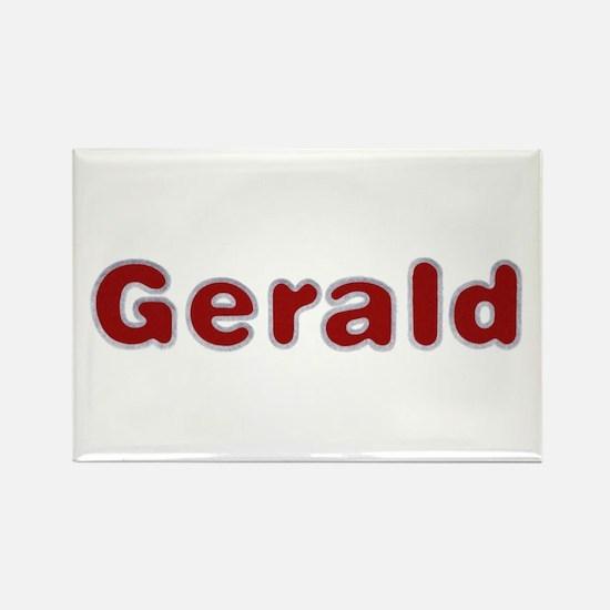 Gerald Santa Fur Rectangle Magnet