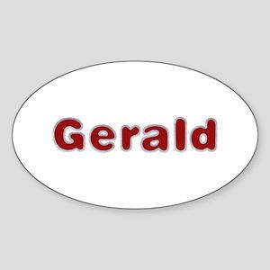Gerald Santa Fur Oval Sticker