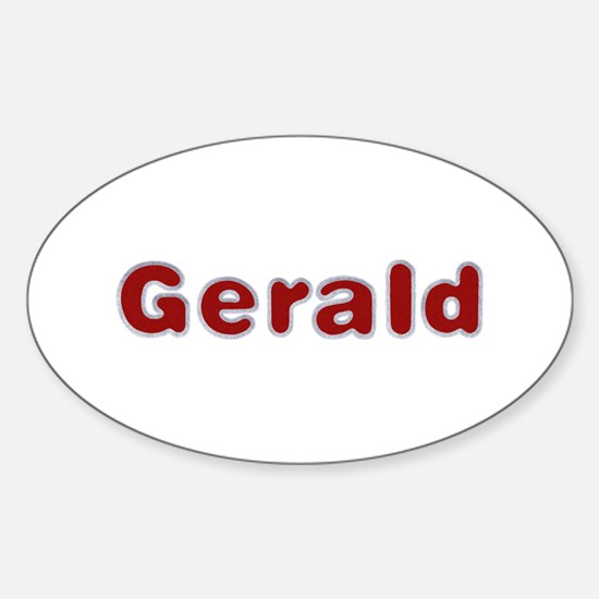 Gerald Santa Fur Oval Decal