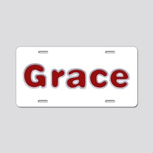 Grace Santa Fur Aluminum License Plate