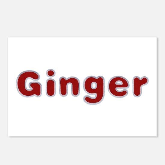 Ginger Santa Fur Postcards 8 Pack