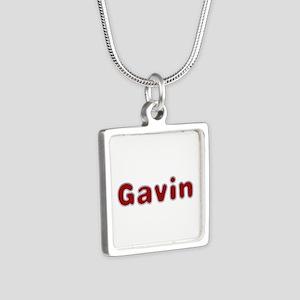 Gavin Santa Fur Silver Square Necklace