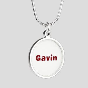 Gavin Santa Fur Silver Round Necklace
