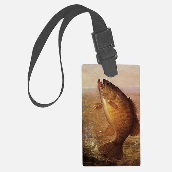 Vintage Largemouth Brown Bass Fi Luggage Tag