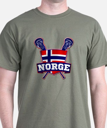 Norway Norsk Lacrosse Logo T-Shirt