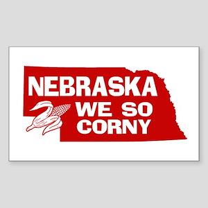 Nebraska Rectangle Sticker