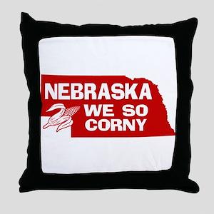 Nebraska Throw Pillow