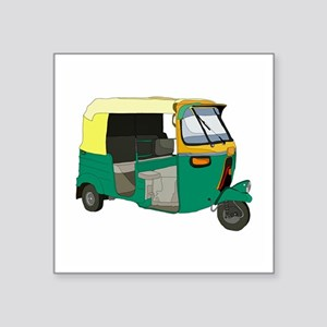 "Indian Auto rickshaw Square Sticker 3"" x 3"""