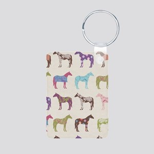 Colorful Horse Pattern Keychains