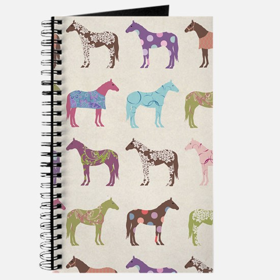 Colorful Horse Pattern Journal