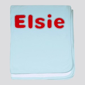 Elsie Santa Fur baby blanket